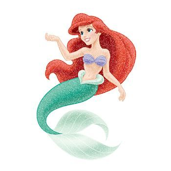 Glitter Disney Ariel Set ofs Design Water Transfer Temporary Tattoo(fake Tattoo) Stickers NO.14334