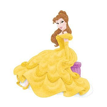 Glitter Disney Belle Set ofs Design Water Transfer Temporary Tattoo(fake Tattoo) Stickers NO.14341