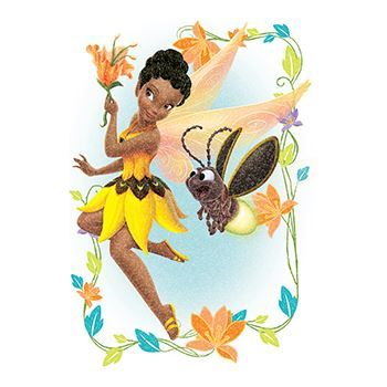 Glitter Disney Iridessa Fairy Design Water Transfer Temporary Tattoo(fake Tattoo) Stickers NO.14026