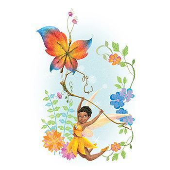 Glitter Disney Iridessa Design Water Transfer Temporary Tattoo(fake Tattoo) Stickers NO.14362