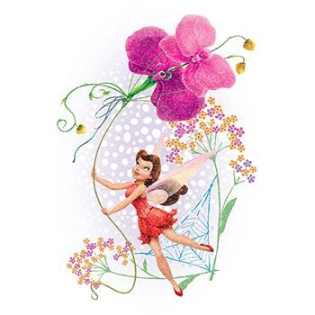 Glitter Disney Rosetta Design Water Transfer Temporary Tattoo(fake Tattoo) Stickers NO.14340