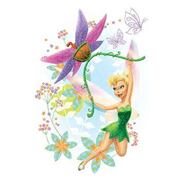 Glitter Disney Tinkerbell Design Water Transfer Temporary Tattoo(fake Tattoo) Stickers NO.14023