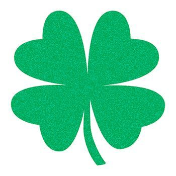 Glitter Four Leaf Clover Design Water Transfer Temporary Tattoo(fake Tattoo) Stickers NO.13405