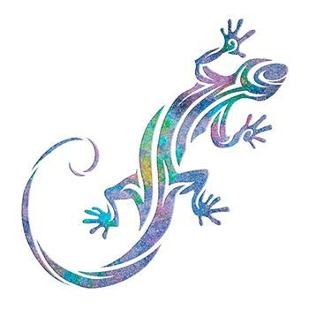Glitter Gecko Design Water Transfer Temporary Tattoo(fake Tattoo) Stickers NO.13658