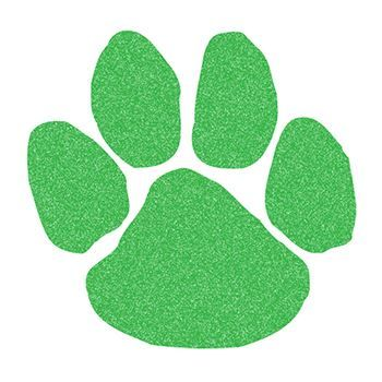 Glitter Green Paw Print Design Water Transfer Temporary Tattoo(fake Tattoo) Stickers NO.14339