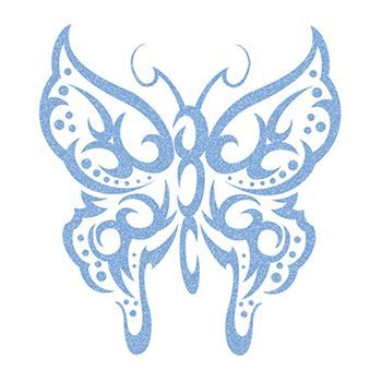 Glitter Light Colored Butterflys Design Water Transfer Temporary Tattoo(fake Tattoo) Stickers NO.13806