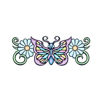 Glitter Pastel Butterflys Design Water Transfer Temporary Tattoo(fake Tattoo) Stickers NO.13667