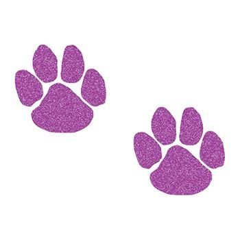 Glitter Purple Paw Printss Design Water Transfer Temporary Tattoo(fake Tattoo) Stickers NO.14378