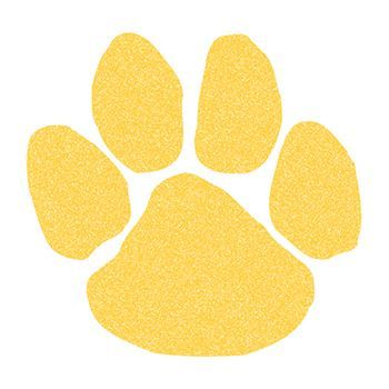 Glitter Yellow Paw Print Design Water Transfer Temporary Tattoo(fake Tattoo) Stickers NO.15199