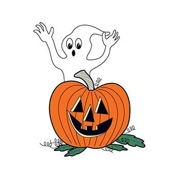 Glow in the Dark Ghost and Pumpkin Design Water Transfer Temporary Tattoo(fake Tattoo) Stickers NO.14436