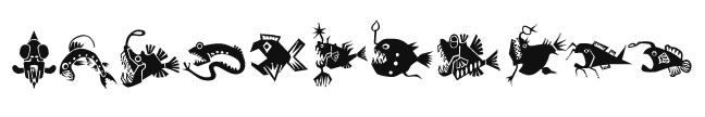 Glow in the Dark Killer Fish Band Design Water Transfer Temporary Tattoo(fake Tattoo) Stickers NO.14404