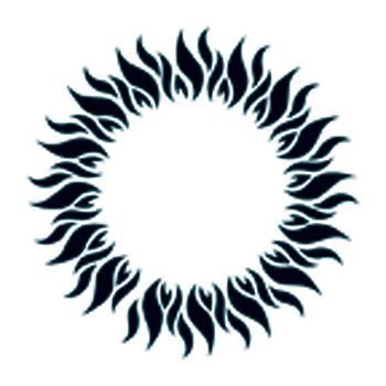 Glow in the Dark Tribal Circle Design Water Transfer Temporary Tattoo(fake Tattoo) Stickers NO.14397