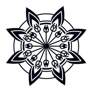 Glow in the Dark Tribal Flower Design Water Transfer Temporary Tattoo(fake Tattoo) Stickers NO.14407