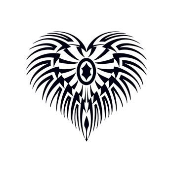 Glow in the Dark Tribal Heart Design Water Transfer Temporary Tattoo(fake Tattoo) Stickers NO.14410