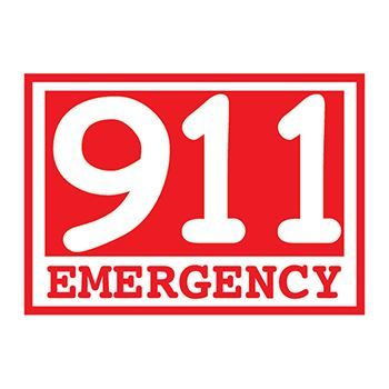 Glow Red Emergency 911 Design Water Transfer Temporary Tattoo(fake Tattoo) Stickers NO.14416