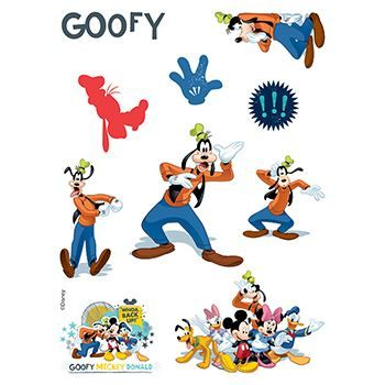 Goofy Assortment ofs Design Water Transfer Temporary Tattoo(fake Tattoo) Stickers NO.14126