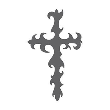 Gray Tribal Cross Design Water Transfer Temporary Tattoo(fake Tattoo) Stickers NO.12220