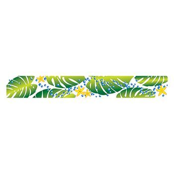 Green Leaf Band Design Water Transfer Temporary Tattoo(fake Tattoo) Stickers NO.12293