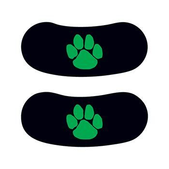Green Paw Eye Black Design Water Transfer Temporary Tattoo(fake Tattoo) Stickers NO.14641