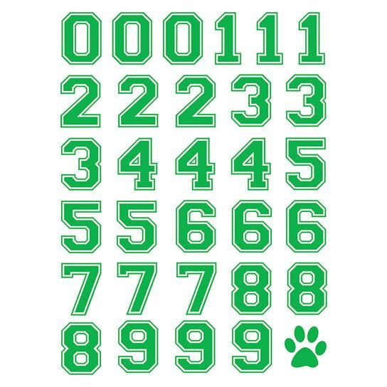 Green Sport Numberings Design Water Transfer Temporary Tattoo(fake Tattoo) Stickers NO.13415