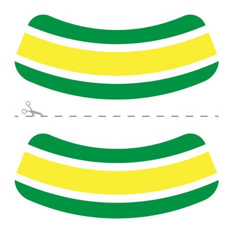 Green and Yellow Eye Blacks Design Water Transfer Temporary Tattoo(fake Tattoo) Stickers NO.14623