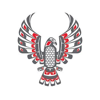 Haida Eagle Design Water Transfer Temporary Tattoo(fake Tattoo) Stickers NO.12222