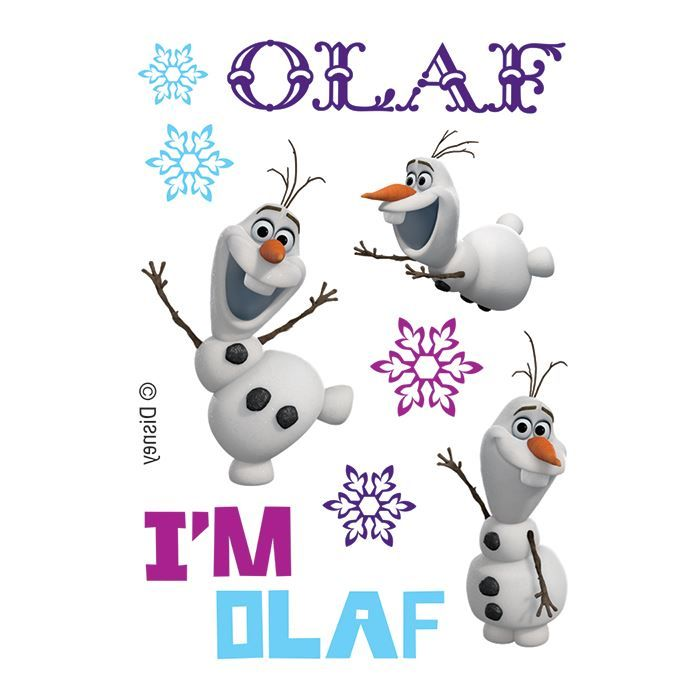 Happy Olaf Assortment Design Water Transfer Temporary Tattoo(fake Tattoo) Stickers NO.14139