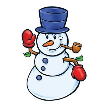 Happy Snowman Design Water Transfer Temporary Tattoo(fake Tattoo) Stickers NO.12878