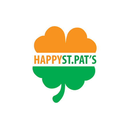 Happy St. Pat's Clover Design Water Transfer Temporary Tattoo(fake Tattoo) Stickers NO.13404
