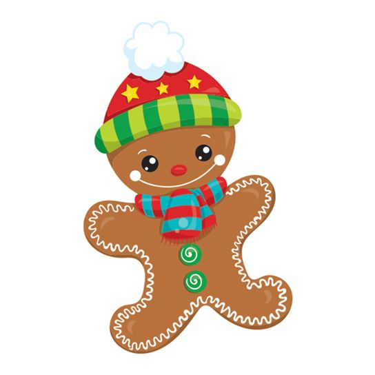 Holiday Gingerbread Man Design Water Transfer Temporary Tattoo(fake Tattoo) Stickers NO.12863