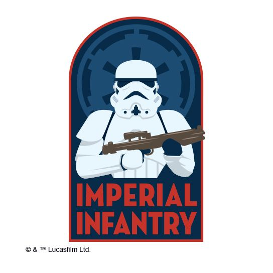 Imperial Infantry Design Water Transfer Temporary Tattoo(fake Tattoo) Stickers NO.14074