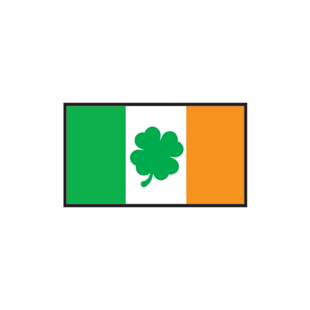 Irish Flag with Clover Design Water Transfer Temporary Tattoo(fake Tattoo) Stickers NO.13410