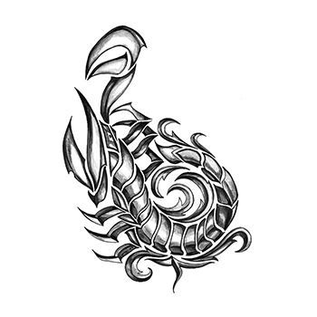 Iron Tribal Scorpion Design Water Transfer Temporary Tattoo(fake Tattoo) Stickers NO.13631