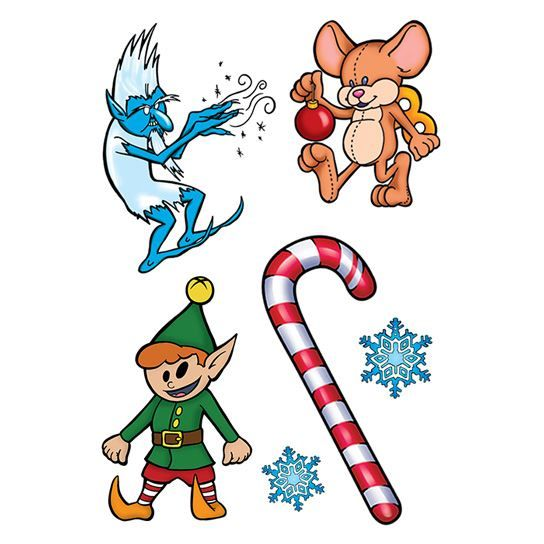 Jack Frost Christmas Tattoo Sheet Design Water Transfer Temporary Tattoo(fake Tattoo) Stickers NO.12904