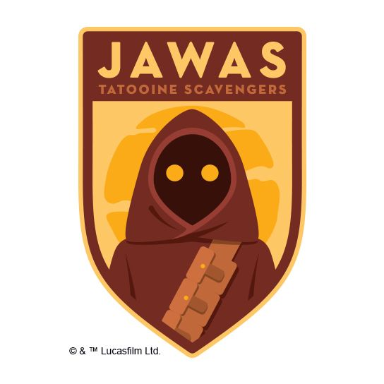 Jawas Design Water Transfer Temporary Tattoo(fake Tattoo) Stickers NO.14068