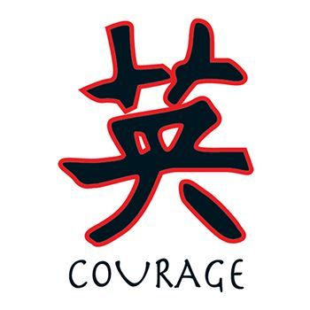 Kanji Courage Design Water Transfer Temporary Tattoo(fake Tattoo) Stickers NO.11941