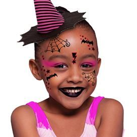 Kid Witch Face Design Water Transfer Temporary Tattoo(fake Tattoo ...
