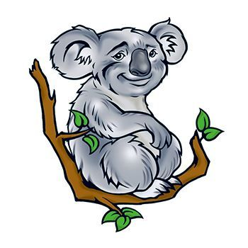 Koala Design Water Transfer Temporary Tattoo(fake Tattoo) Stickers NO.13637
