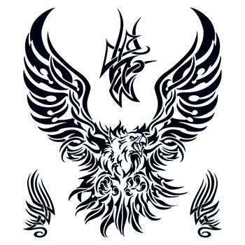 Large Tribal Eagle Design Water Transfer Temporary Tattoo(fake Tattoo) Stickers NO.12659