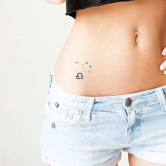 Libra Astrological Design Water Transfer Temporary Tattoo(fake Tattoo) Stickers NO.12224