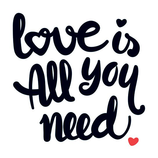 Love is All You Need Design Water Transfer Temporary Tattoo(fake Tattoo) Stickers NO.13458