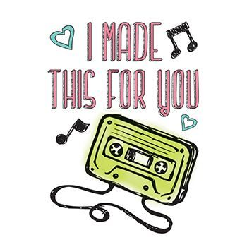 Made for You Mixtape Design Water Transfer Temporary Tattoo(fake Tattoo) Stickers NO.14270