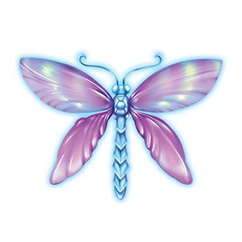 Magical Dragonfly Design Water Transfer Temporary Tattoo(fake Tattoo) Stickers NO.13551