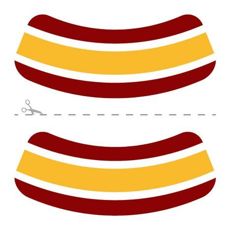 Maroon, Gold & White Eye Blacks Design Water Transfer Temporary Tattoo(fake Tattoo) Stickers NO.14625