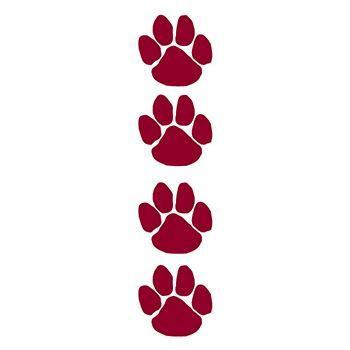 Maroon Paw Prints Design Water Transfer Temporary Tattoo(fake Tattoo) Stickers NO.13004