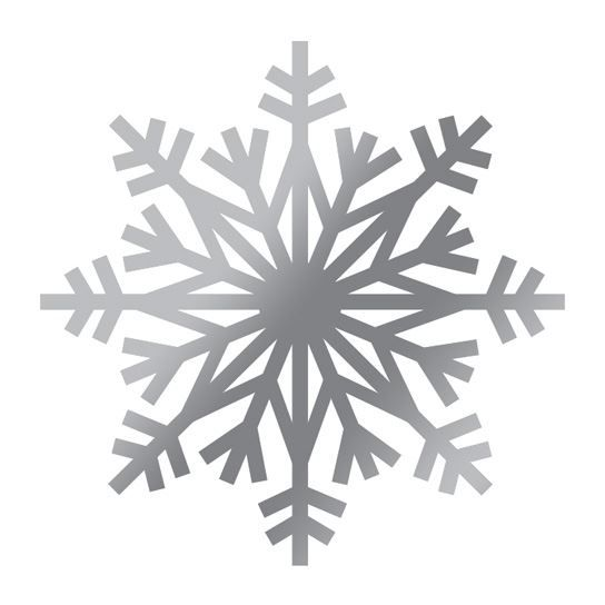 Flashy Silver Snow Flake Design Water Transfer Temporary Tattoo(fake Tattoo) Stickers NO.11807