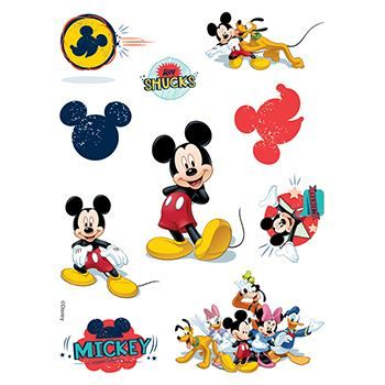 Mickey Mouse Assortment ofs Design Water Transfer Temporary Tattoo(fake Tattoo) Stickers NO.14124