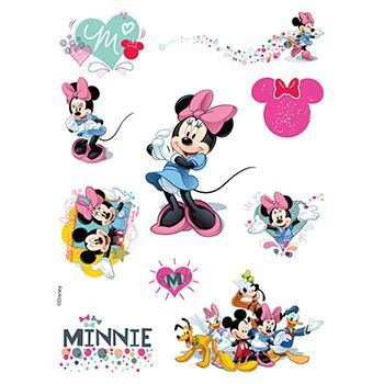 Minnie Mouse Assortment ofs Design Water Transfer Temporary Tattoo(fake Tattoo) Stickers NO.14148