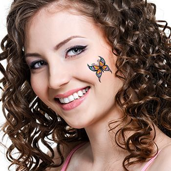 Modern Butterfly Design Water Transfer Temporary Tattoo(fake Tattoo) Stickers NO.13766