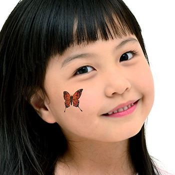 Monarch Butterfly Design Water Transfer Temporary Tattoo(fake Tattoo) Stickers NO.13772